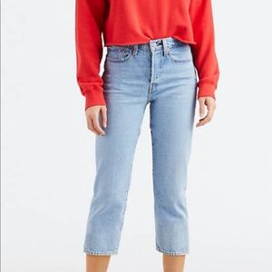 Like new Levi's light wash wedgie fit jeans